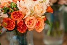 Touch of Orange~Peach~Coral / Red/Orange/Yellow Tablescapes by the Stuart Rental Company / by The Stuart Rental Company