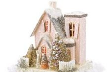 Miniature Glitter Houses