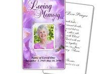 Prayer Cards and Templates / Beautiful do-it-yourself, easy printable funeral prayer cards templates for download created on your own computer to print anywhere. Imprint a special prayer, poem or special message on the back.