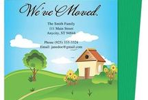 Moving Announcements New Address Postcard Templates / A cute selection of print it yourself and do it yourself downloadable moving announcement postcards templates to let your friends and family know of your new address! Easy to use, compatible with Word, OpenOffice, Publisher, Apple iWork Pages.