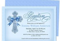 Printable Baby Baptism and Christening Invitations / An adorable selection of printable baptism invitations and christening templates that you can create yourself for your baby invitation.
