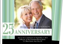 25th & 50th Wedding Anniversary Invitations Templates / A great variety of DIY printable templates for 25th and 50th wedding anniversary party invitations. A quick and easy solution to create elegant party celebration invites, print yourself or take anywhere for printing.