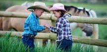 """Ranch reunions / A ranch reunion could be very memorable for grandchildren who want to ride horses! Reunions often """"take over"""" a ranch and are the sole guests. Get your hats and chaps and come on over to a ranch reunion!"""