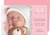 Baby Birth Announcement Templates / A cute DIY, printable selection of baby birth announcements templates compatible with Word®, Publisher®, OpenOffice, and Apple iWork Pages®