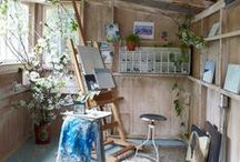 Atelier / Ideas for my art/writing studio