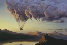 Vladimir Kush Paintings / I'm blown away by this Art, not only inspiring but with a strong message for us as humans here on Earth. Vladimir Kush is a profound Artist.