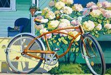 Schwinnderful bicycle paintings.  / My art show at the San Luis Obispo Museum of Art, April, 2013.