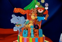 Circus Party Ideas / Circus Party, Big Top, Carnival Party Ideas, Clown Party Ideas, Clowns, Circus Party Decorations, Candyland Party, Circus Cakes / by A to Zebra Celebrations ~ Nancy ~