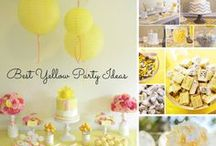 Yellow Party Ideas / by A to Zebra Celebrations ~ Nancy ~