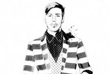 Fashion illustration: Men