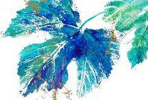 Leaves / I have been inspired by and using the impressions of leaves in my work through out my endeavors in Art