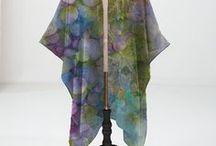 Art Textiles by Sheri Trepina / Beautiful made textiles using my original botanical art pieces