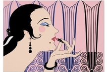 Art Deco Ladies / Some of my many designs at Zazzle.com, featuring Art Deco Ladies and Fashion. Shown here are the low-cost poster versions of my artwork. All designs are available on dozens and dozens of cool products: Address Labels, Binders, Business Cards, Clocks, Coasters, Greeting Cards & Note Cards, Keychains, Magnets, Mousepads, Phone and Electronics Cases, Pillows, Planners, Postcards, Spiral Notebooks, Stickers, Tote Bags, Zippered Accessory Bags and lots more! / by Nancy Lorene
