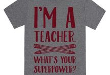 "Teacher Shirts / Fun literary or writing shirts to wear on ""casual friday"""