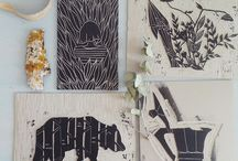 printmaking / Hand printing techniques from amazing art works to crafts
