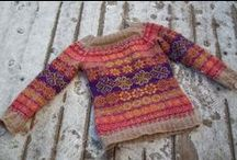 Strikka jakker og gensere / Knitted sweaters and cardigans  / by Ann Myhre