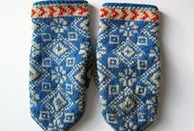 Strikka votter  / Knitted mittens