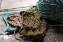 yarn and knits / Wool, linen and cotton yarn for projects