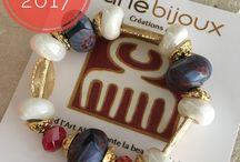 Aflé Bijoux Krobo/Glass beads Collection 2017 / Unique Handmade Statement bracelets made with millefiori African beads, gemstones, Akan goldweights.