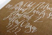 LETTERING / by jessica @ jack + ella paper