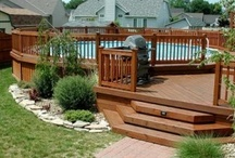 Pool Decks for above ground & pool accessories / by Ang