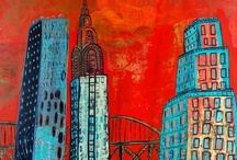 City Paintings / Work for my solo show at Gallery 360, Minneapolis, MN. Nov. 10, 2012.