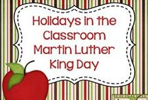 Holidays in the Classroom - Martin Luther King / Resources and ideas for celebrating Martin Luther King Day in the classroom