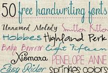 Fonts / by Tamara Edgerton