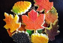 """Fall and Autumn cookies / I use these albums as a place to keep cookies that inspire me. Most pics in this album are NOT my cookies. Those that are, are labeled as Edible Canvas Creations. Most of these are cookies that I might like to try one day. If you see something you like, I can try to create it. The album, """"Edible Canvas Creations"""" are just (some of) my cookies. Find all my cookie pics at www.facebook.com/ediblecanvascreations/."""