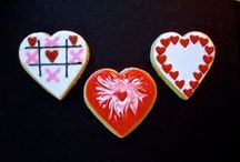 """Valentine's Day Cookies / I use these albums as a place to keep cookies that inspire me. Most pics in this album are NOT my cookies. Those that are, are labeled as Edible Canvas Creations. Most of these are cookies that I might like to try one day. If you see something you like, I can try to create it. The album, """"Edible Canvas Creations"""" are just (some of) my cookies. Find all my cookie pics at www.facebook.com/ediblecanvascreations/."""