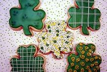 """St. Patrick's Day / I use these albums as a place to keep cookies that inspire me. Most pics in this album are NOT my cookies. Those that are, are labeled as Edible Canvas Creations. Most of these are cookies that I might like to try one day. If you see something you like, I can try to create it. The album, """"Edible Canvas Creations"""" are just (some of) my cookies. Find all my cookie pics at www.facebook.com/ediblecanvascreations/."""