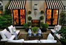 Design: Outdoors, Gardens, Deck / Spring has Sprung There is nothing better than spending time outside in the garden or on the porch or deck. Design Inspiration for the outdoors.