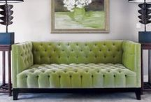 Design Details: Tufted Heaven / Tufting can make any piece of furniture, whether a headboard, an ottoman or a sofa go from blah to WOW! Some heavenly examples of tufting.