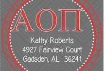 Greek / Sorority Items / PoppySeed Paper is now licensed to see Greek and Sorority items for your favorite collegians!  Shop for personalized gifts, including custom stationery, address labels, key chains, and cups!  For pricing and more info, please visit our website at www.poppyseedpaper.com