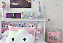 HOME: GIRL BEDROOM / Inspiration for Girls Bedroom
