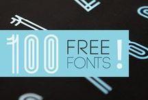 Typo | Free fonts / Cool & free typographies