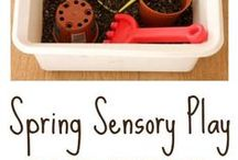 Springtime Sensory Play / Sensory crafts and resources for springtime!  For children with autism, Asperger's Syndrome, and Sensory Processing Disorder.