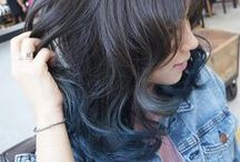 Hair Color - Blue / Turquoise / Teal / A variety of gorgeous hair color designs created by NALU & Number76 Hair Salon's team of professional stylists in Malaysia, Singapore and Tokyo, Japan.