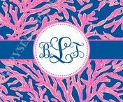 Lilly Pulitzer-inspired stationery & invitations / all products can be purchased via PoppySeed Paper's website or Etsy store www.poppyseedpaper.com
