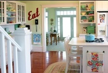 Kitchen LOVE! / Kitchens that I love...some cottage, some white, all fabulous! / by Jessica Kielman         {Mom 4 Real}