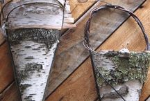 Leaf,birch bark, and feather painting / by Michelle Weidner