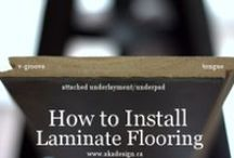 DIY Info / We love our DIY-ers! Get tips for installing floors and doing some other fun projects yourself!