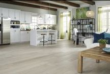 Floors: Hardwood / A selection of handscraped flooring products found at Lumber Liquidators.  The old world feel of individually handscraped floors with the added durability of prefinished floors make these an excellent choice for many homes.