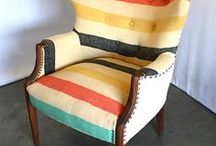 SEATING:  chairs, stools, poufs / by Katie Payne - That Girl Katie