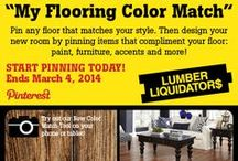 My Flooring Color Match / To celebrate our NEW mobile/tablet-friendly Color Match tool, designed to help you find the perfect floor for you, we're giving away $3,000 for new flooring + an iPad! Here's my dream room, designed with a Lumber Liquidators floor & my favorite home decor options to go with it! / by Lumber Liquidators