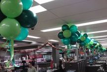 Air filled topiary balls / by Balloons Online