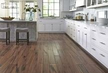 Floors: Wood-Look Tile / It's gorgeous, natural-looking and it combines all the beauty of wood with the durability of tile. Plus, it's waterproof! That means you can give any room the elegant look of hardwood, especially in high-moisture areas like kitchens, bathrooms and even wall backsplashes!