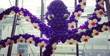 Creative balloon sculptures / Logos, Castles, Martini glasses, Bride & Groom - come to us with a special sculpture request and we can make it happen!
