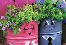Gardening...Containers / by Karen Ross