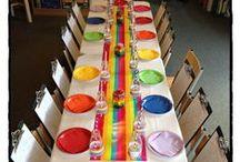Art craft rainbow colour party